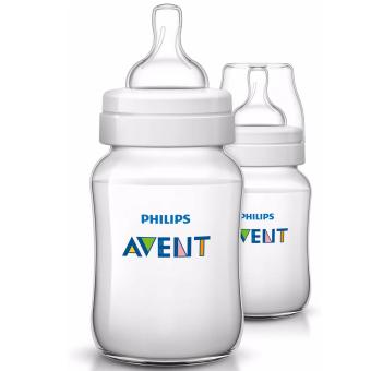 Bộ 2 bình sữa bằng nhựa không có BPA 260ml Philips Avent 563.27