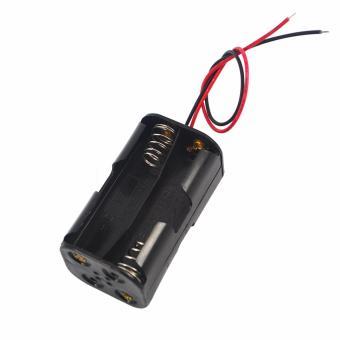 Khay lắp 4 pin tiểu AA kèm dây điện (Đen)