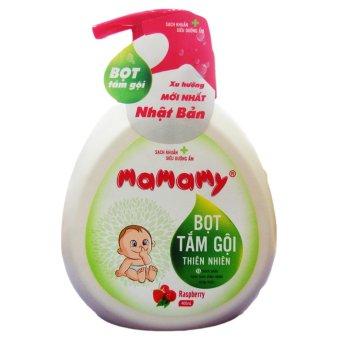 Bọt tắm gội thiên nhiên Mamamy hương quả mâm xôi Rasberry 400ml