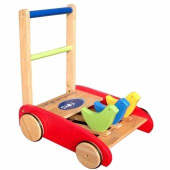 Xe bé tập đi bằng gỗ