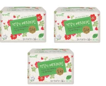 Bộ 3 băng vệ sinh Yejimiin Mild Cotton 16p S