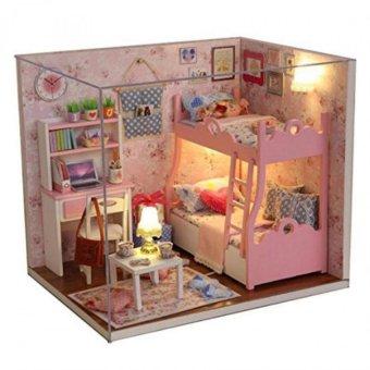 Mô hình nhà gỗ DIY Căn phòng bé gái