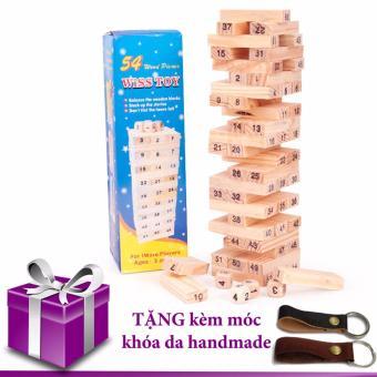 Bộ đồ chơi rút gỗ 54 thanh(tặng móc khóa da)