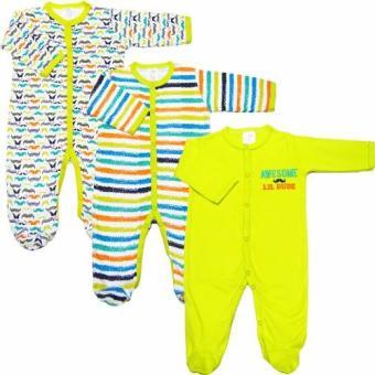 Bộ 3 áo liền quần liền vớ bé trai từ 3 đến 12 tháng Baby Gear (Mẫu râu)