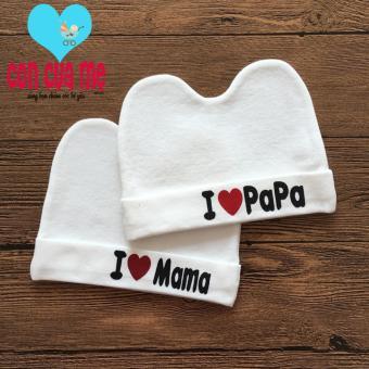 Bộ 2 mũ xô xuất Nhật Love Mama Love Papa