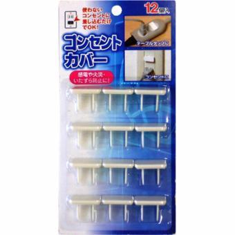 Bộ 12 nắp che ổ cắm điện an toàn cho bé Nhật