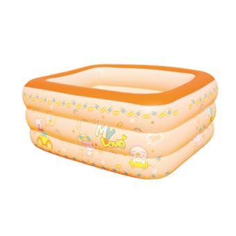 Bể bơi phao 3 tầng cho cả gia đình cỡ lớn 160x110x50 cm ( màu cam) - Hồng Nhung
