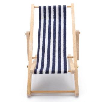 Dollhouse Foldable Miniature Beach Chair Fairy Garden Furniture Deck 1:12 Scale - intl