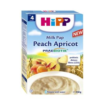 Bột sữa, đào, mơ tây bổ sung Praebiotik HiPP 250g