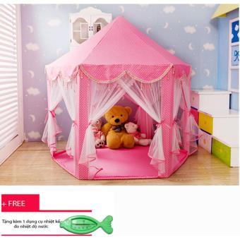 Lều công chúa phong cách Hàn Quốc cho bé + Tặng kèm nhiệt kế đo nhiệt độ nước cho bé trị giá 50 ngàn đồng