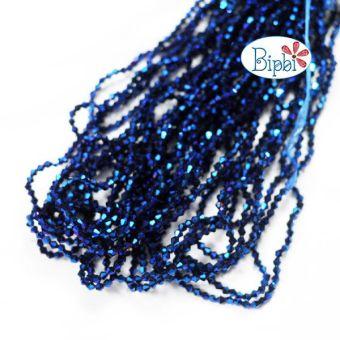 10 dây pha lê TQ xanh ánh kim 4mm