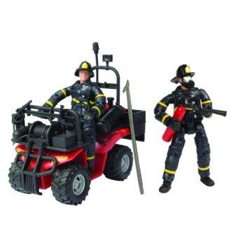 Mô hình lính cứu hỏa với xe địa hình cứu hỏa