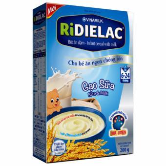 Bột ăn dặm Vinamilk Ridielac Gạo Sữa 200g (Gạo)