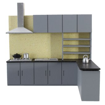 Dollhouse Art Modern Simulation Kitchen Cabinet Set Model Kit Furniture 1:25 New - intl