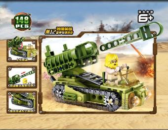 Bộ xếp hình xe xích bắn pháo cối M12 148PCS SUNNY 81025