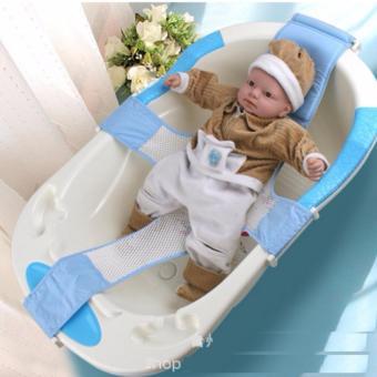 Lưới đỡ gắn chậu tắm cho trẻ sơ sinh DDL35 (Xanh)