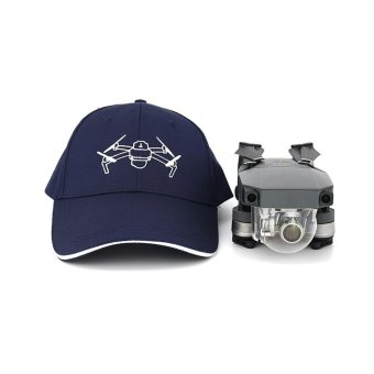 For DJI Mavic PRO Hat Souvenir Outdoor Cotton Visor Hat Peaked Cap Phantom Blue - intl
