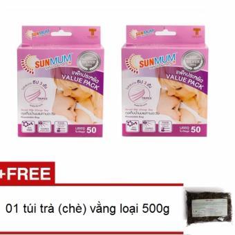 Bộ 100 túi trữ sữa Sunmum và 01 túi trà vằng (chè vằng) loại 500g