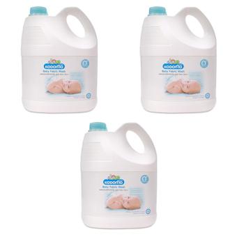 Bộ 3 nước giặt quần áo cho bé chiết xuất dừa Kodomo 3 lít