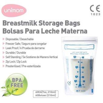Túi Đựng Sữa Mẹ Unimom Tiêu Chuẩn Standard 210Ml 60 Túi