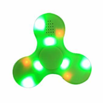 Con quay cao cấp Spiner Bluetooth Led phát sáng kiêm loa phát nhạc 2 in 1 kết nối điện thoại, máy tính bảng (Xanh lá)