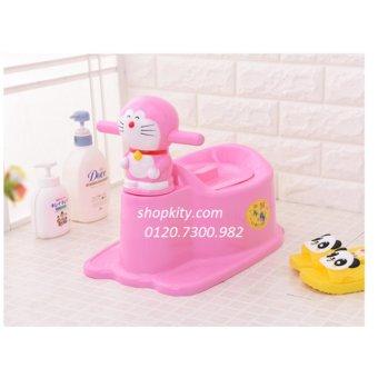 Bô vệ sinh cho bé hình doremon