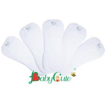 Bộ 5 miếng lót tã vải ngày BabyCute size M (8-16kg)