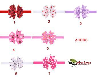 Combo 2 băng đô handmade cho bé gái chất liệu cao cấp AHBĐ6 (số 5 và 6)