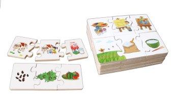 Đồ chơi gỗ ghép ba bước phát triển Winwintoys 61392