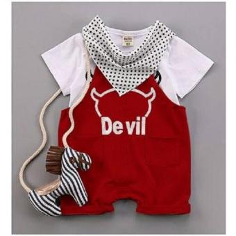 Set yếm thủy thủ kèm khăn dễ thương cho bé