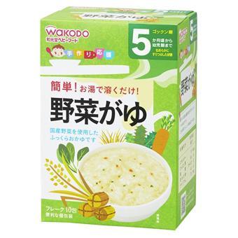 Cháo ăn dăm Wakodo gạo rau củ hỗn hợp cho bé 5m+ 17036