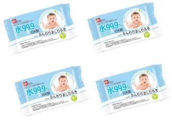 Bộ 4 gói giấy ướt nước tinh khiết 99.9% Lec E161 80 tờ