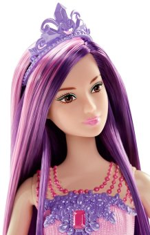 Búp bê Barbie Công chúa Endless Hair Kingdom Purple