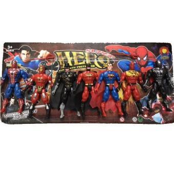 Bộ 07 siêu anh hùng: Người sắt, Người dơi, Siêu nhân, Người nhện... (loại nhỏ)