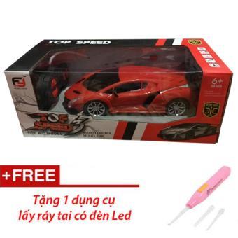 Siêu xe Lambogini điều khiển từ xa cho bé (Đỏ) + Tặng dụng cụ ráy tai có đèn