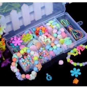 Bộ hạt làm vòng tay nhiều màu sắc dễ thương cho bé gái