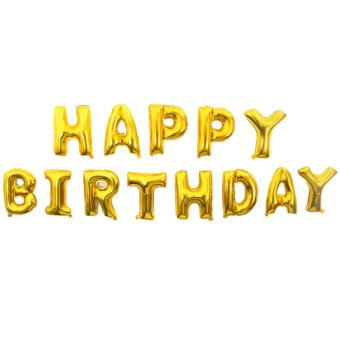 13 PCS Happy Birthday Alphabet Letters Aluminum Foil Balloon Birthday Party Wedding Decoration Balloon Child Balloon Toy Gold