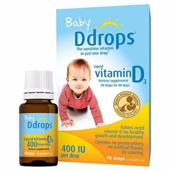 Bổ sung vitamin D Ddrops D3 400Iu của mỹ dành cho trẻ sơ sinh - Wowmart VN