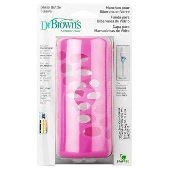 Vỏ bọc bình thủy tinh 240ml Dr Brown's (Hồng)