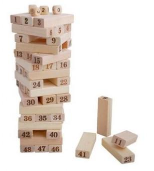 Bộ đồ chơi rút gỗ Wiss Toy 48 thanh cho bé