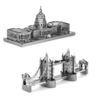 Bộ 2 Xếp hình 3D London Tower và Nhà Quốc hội