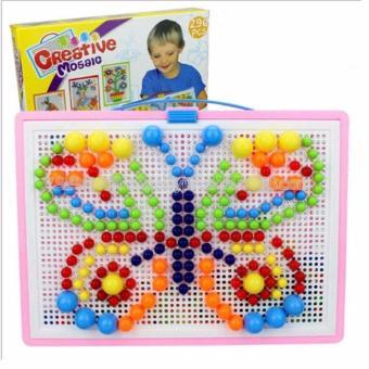 Bộ Đồ Chơi Ghép Hạt Nhựa Creative Mosaic 296 Hạt