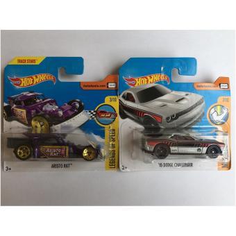 Bộ 2 xe mô hình Hot Wheels Set 22H: Aristo Rat Và '15 Dodge Challenger