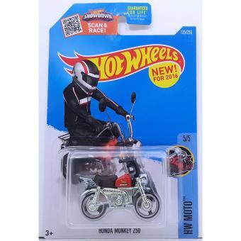 Xe mô tô mô hình tỉ lệ 1:64 Hot Wheels Honda Monkey Z50 (Đỏ)