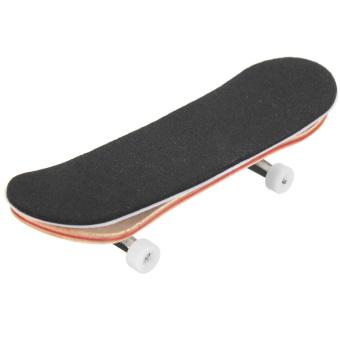 Complete Wooden Fingerboard Finger Skate Board Grit Box Foam Tape Maple Wood white (Intl) - Intl
