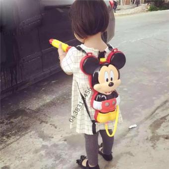 Súng Bắn Nước Balo Hình Mickey Cho Bé (Đỏ)