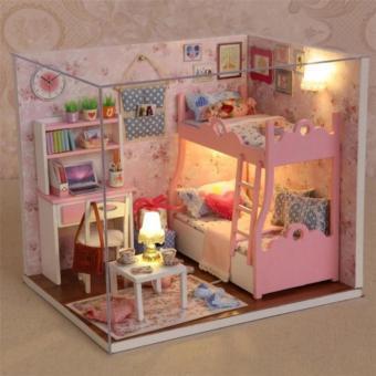 Ghép hình gỗ căn phòng 3D cho bé gái xinh xắn (Hồng)