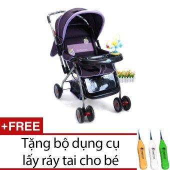 Xe đẩy Good Baby 709C (Tím) + Tặng bộ dụng cụ lấy ráy tai cho bé