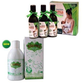 Hộp 3 chai dung dịch xông tắm Dao'spa Mama 250mlx3 Và Nước tắm thảo dược cho trẻ sơ sinh và trẻ nhỏ ELEMIS