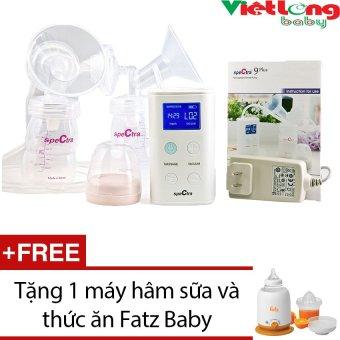 Máy hút sữa đôi Spectra 9 Plus + Tặng 1 máy hâm sữa và thức ăn Fatz Baby FB3002SL